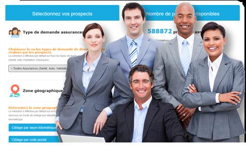 Achat de fiches prospects assurances, leads mutuelle